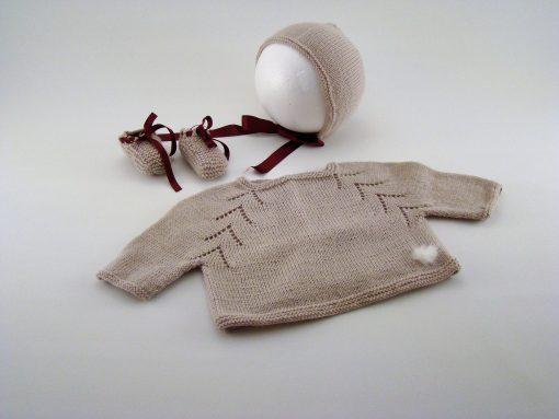 Casaco, Touca e Sapatos de Bébé Fotos 1